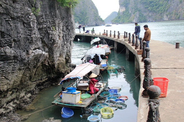 Ha Long floating market