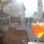 Cortina d'Ampezzo. Walking on summer sunshine