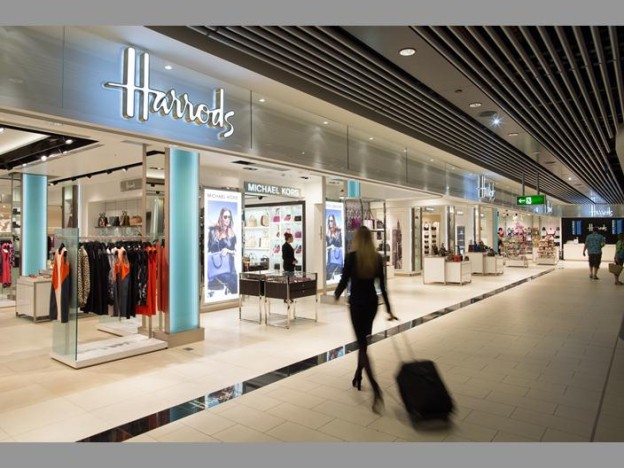 ce15222be Harrods Opens At Gatwick airport. The South Terminal at Gatwick Airport  welcomes Harrods and its 6,000 square feet into the fold.