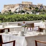 GB Roof Garden Restaurant. Hotel Grand Bretagne. Athens.