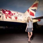 Georgia May Jagger models new BRITISH AIRWAYS Livery