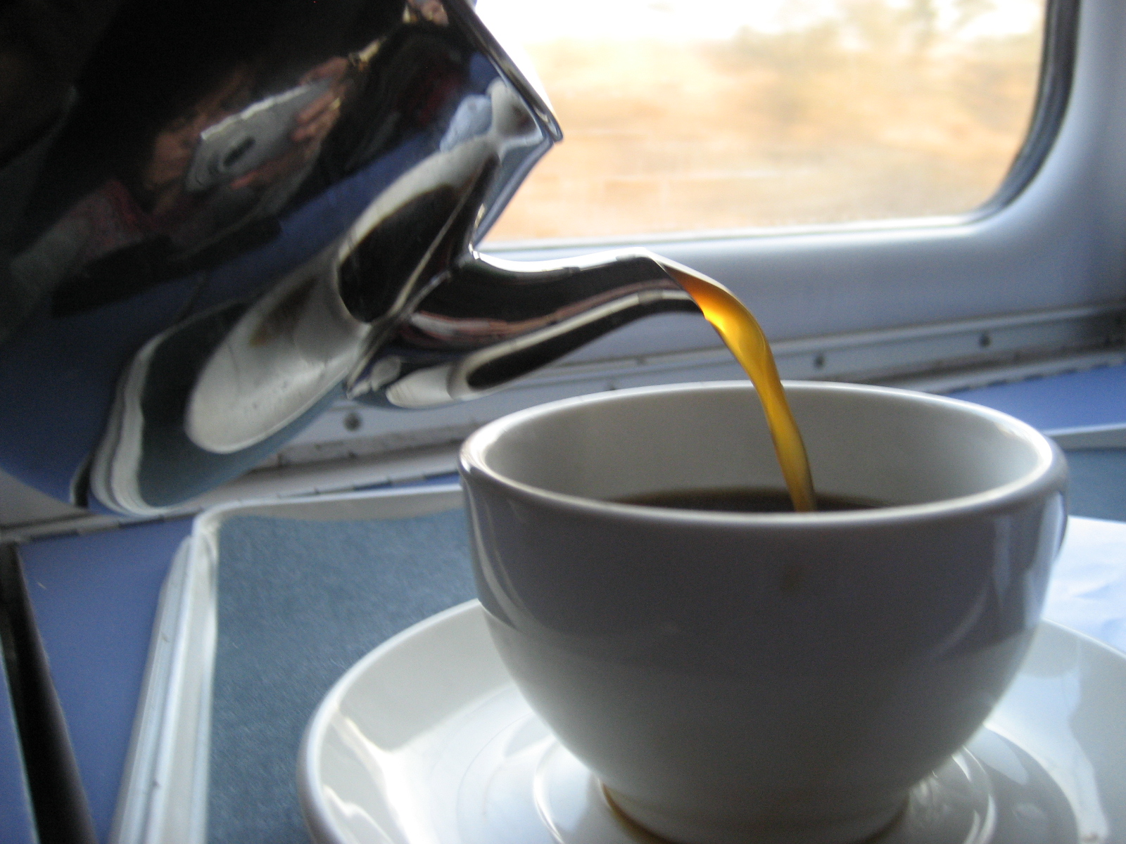 Caledonian Sleeper breakfast coffee