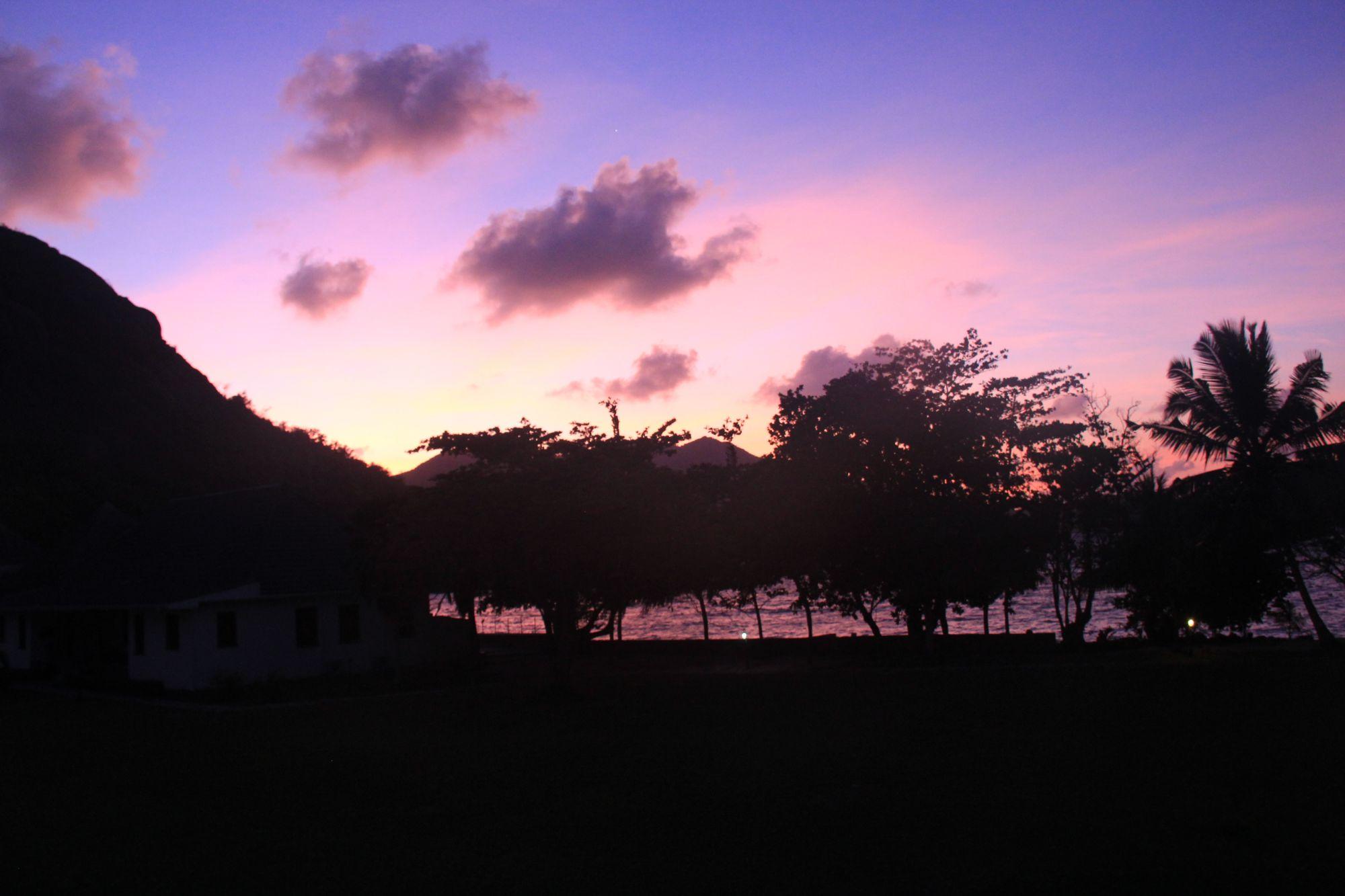 Seychelles sunset on praslin