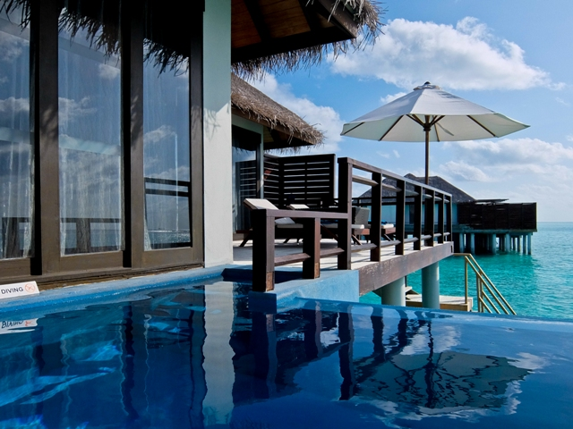 Velassaru Pool in Ocean Villa