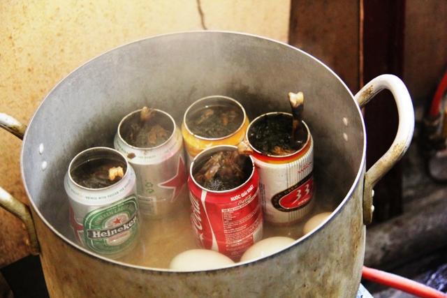 Hanoi beer can food
