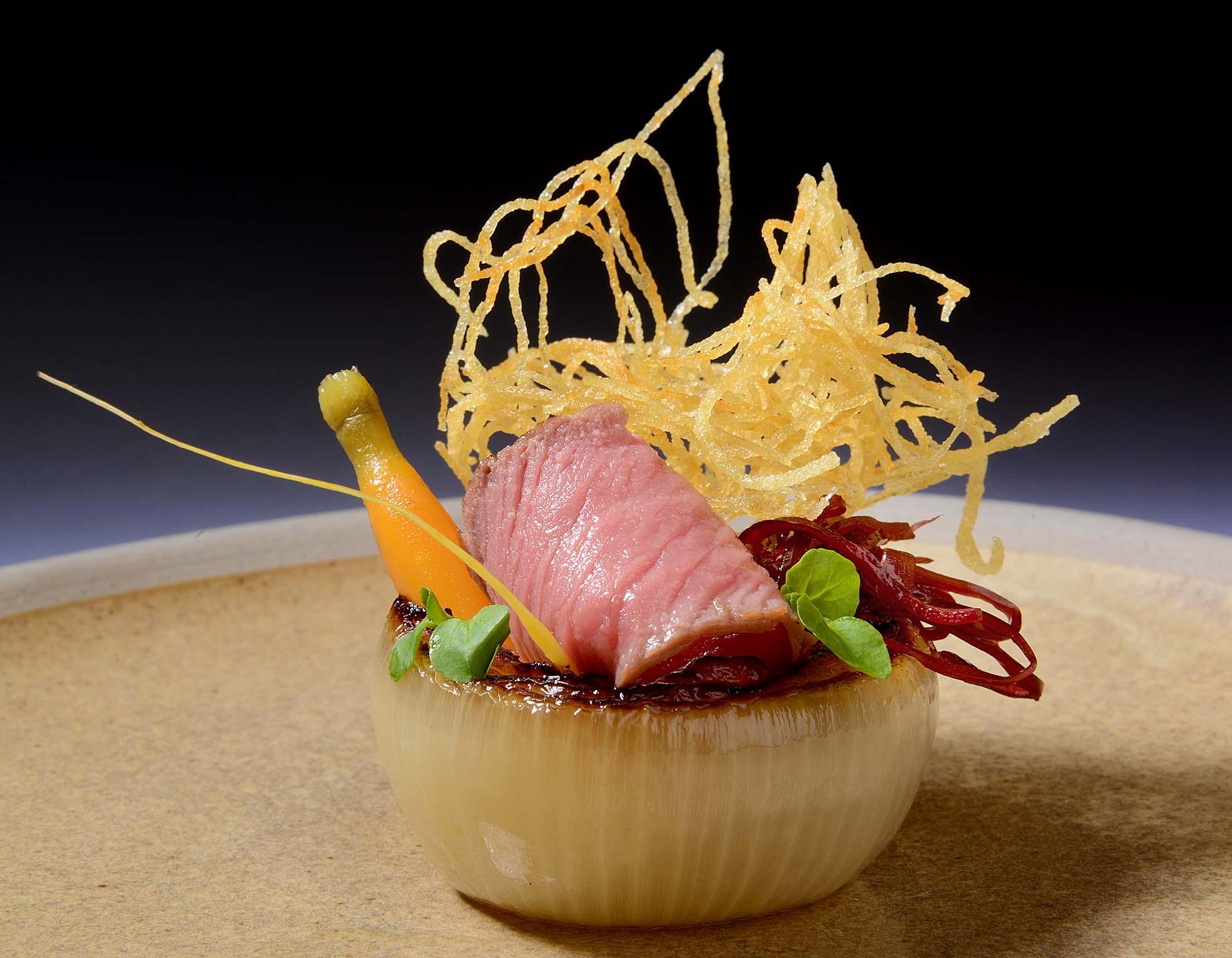 013 NC MENU(151015) Lancashire Hot Pot Salad, Chargrilled Fillet of Salt Marsh Lamb, Pickled Red Cabbage