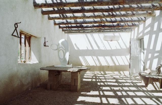 Abiquiu-roofless room credit Georgia O'Keeffe Museum