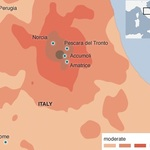 Italy hit by an earthquake