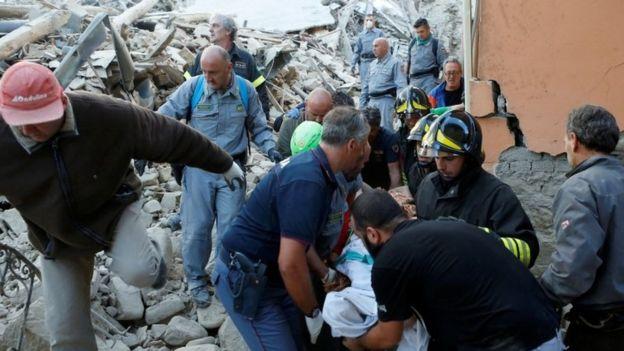 quake debris