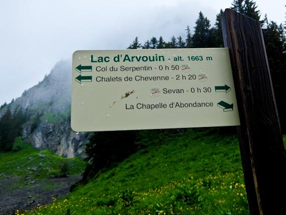 Lac d'Arvoin Sign