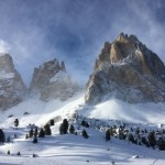 Skiing in Val Gardena