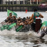 Thailand's Navy SEALS paddle away with Bangkok's inaugural King's Cup Elephant Boat Race and River Festival.